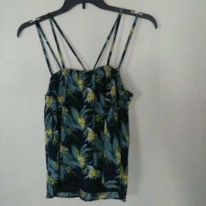 JOA Los Angeles Tropical Tank Blouse Medium